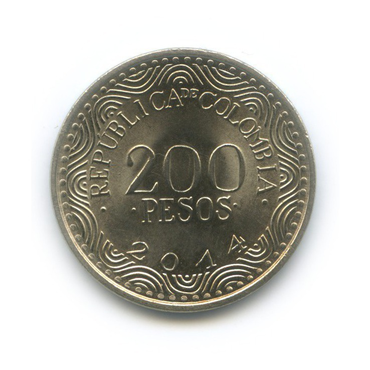 200 песо - Попугай 2014 года (Колумбия)