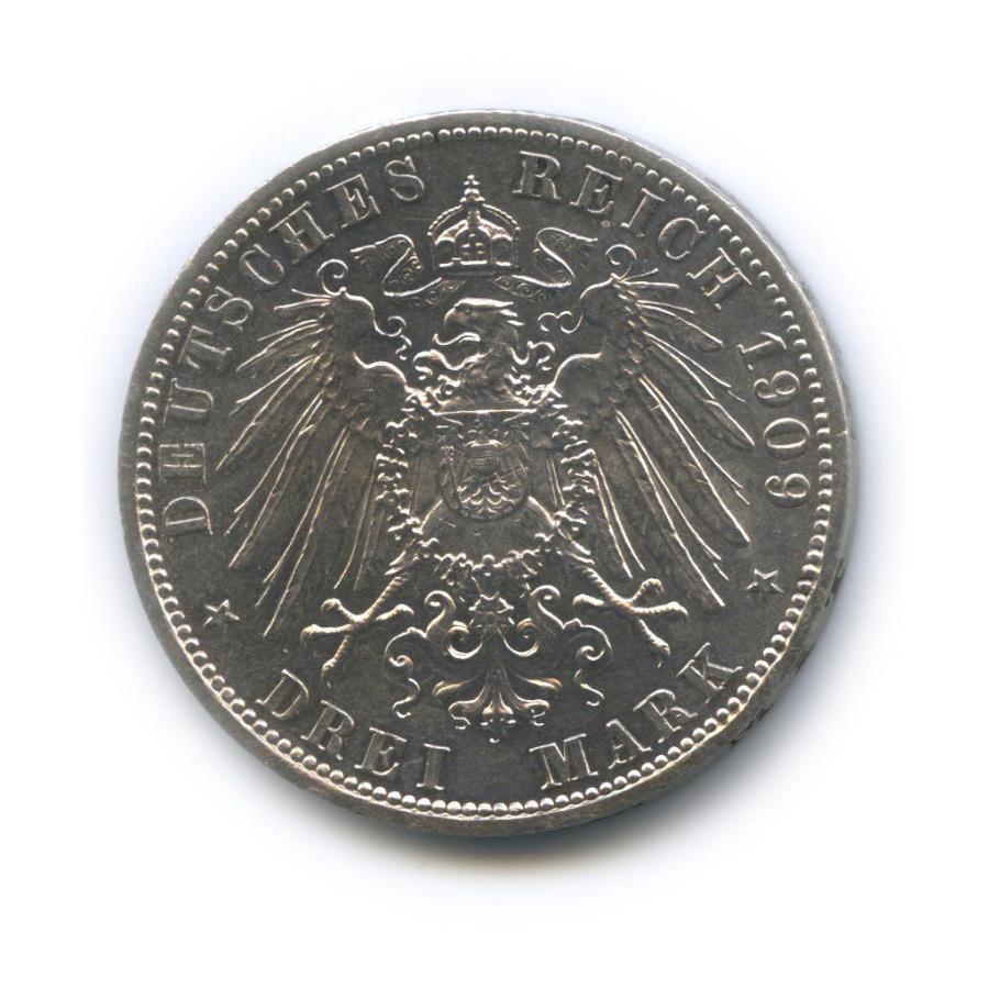 3 марки - Смерть князя Карла Гюнтера, Шварцбург-Зондерхаузен 1909 года
