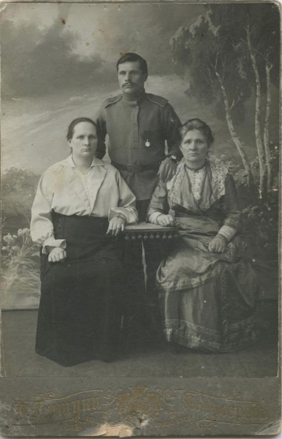Фотография унтера 266-ого Пореченского полка смедалью «Захрабрость» (Российская Империя)
