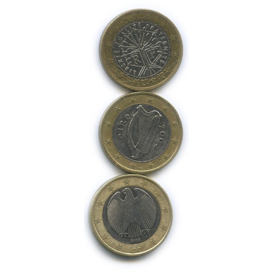 Набор монет 1 евро (Германия, Ирландия, Франция)