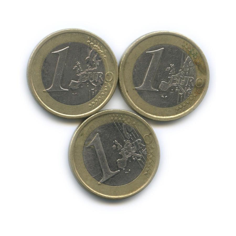 Набор монет 1 евро (Финляндия, Италия) 2002, 2008