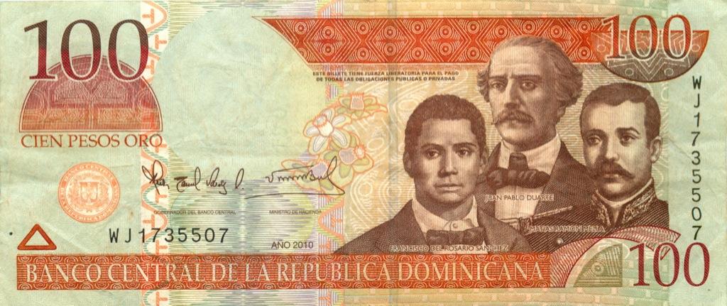 100 песо 2010 года (Доминикана)