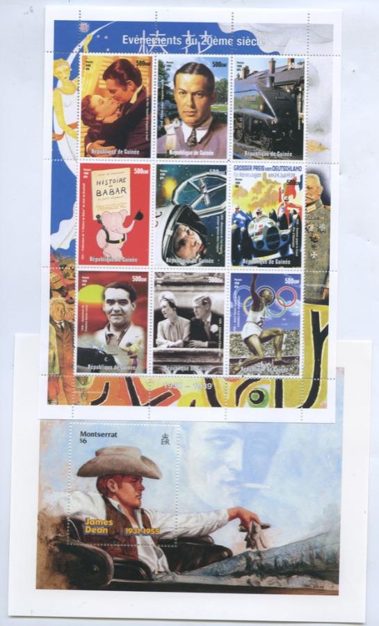 Набор почтовых марок (Монтсеррат, Гвинея)