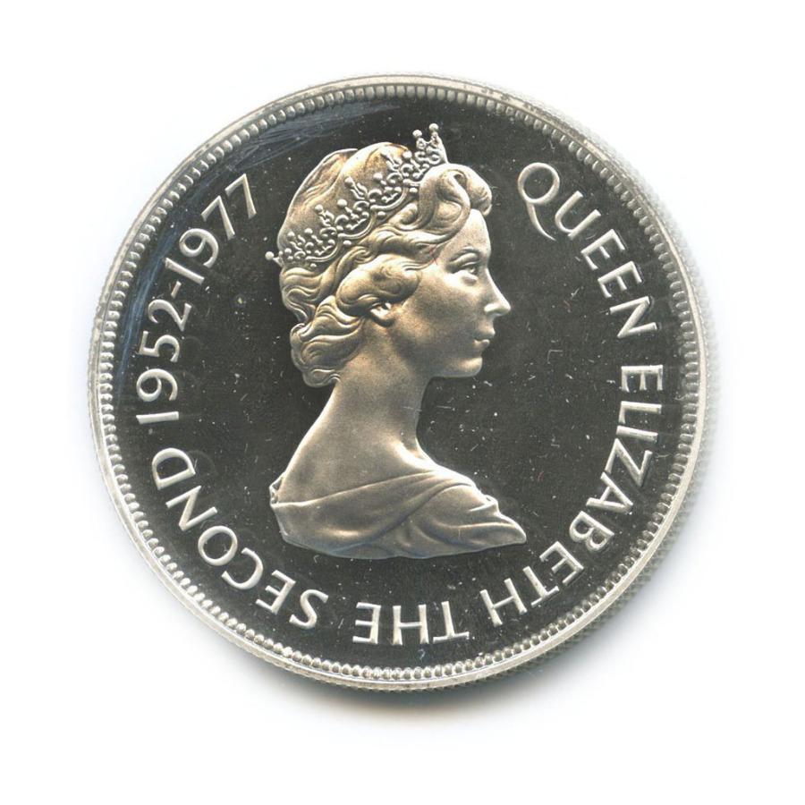 25 пенсов - 25 лет правления Елизаветы II (Гернси) 1977 года