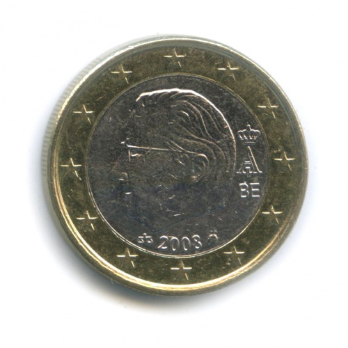 1 евро 2008 года (Бельгия)