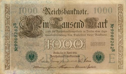 1000 рейхсмарок 1910 года (Германия)