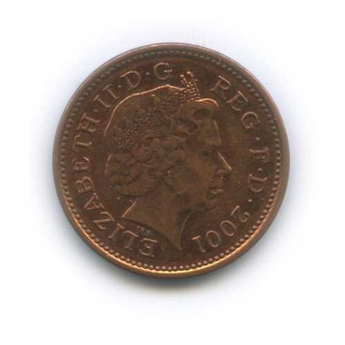 1 пенни 2001 года (Великобритания)