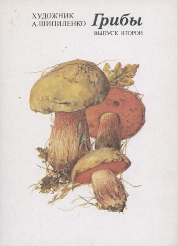 Набор открыток «Грибы» (16 шт.) 1987 года (СССР)