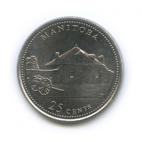 25 центов (квотер) — 125 лет Конфедерации Канада - Манитоба 1992 года (Канада)