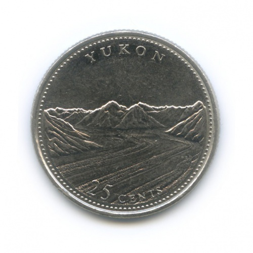 25 центов (квотер) — 125 лет Конфедерации Канада - Юкон 1992 года (Канада)
