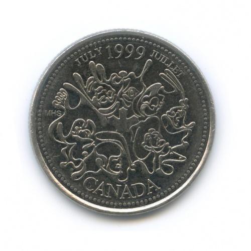 25 центов (квотер) — Миллениум - Июль 1999, Нация людей 1999 года (Канада)