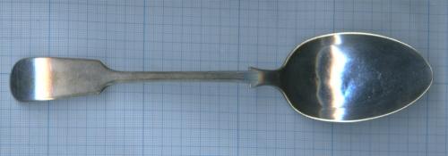 Ложка столовая «Henry Hobson» (серебрение, клейма) 1870-1890 (Великобритания)