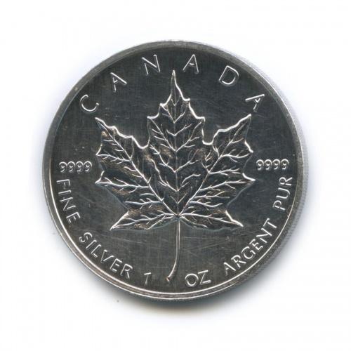 5 долларов - Кленовый лист 1990 года (Канада)