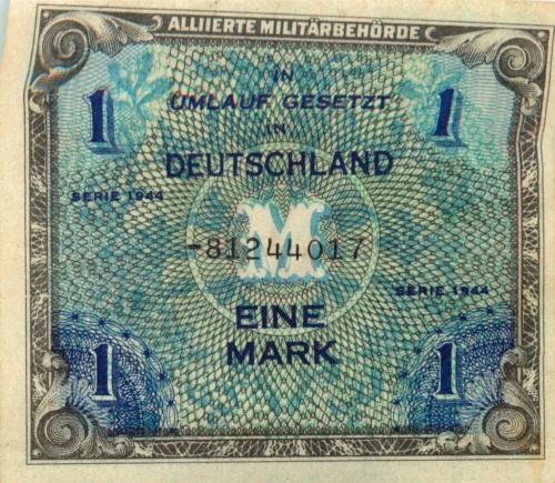 1 марка (оккупация) 1944 года (Германия)