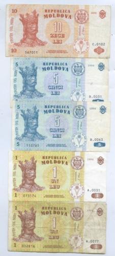 Набор банкнот 1994, 2006 (Молдавия)
