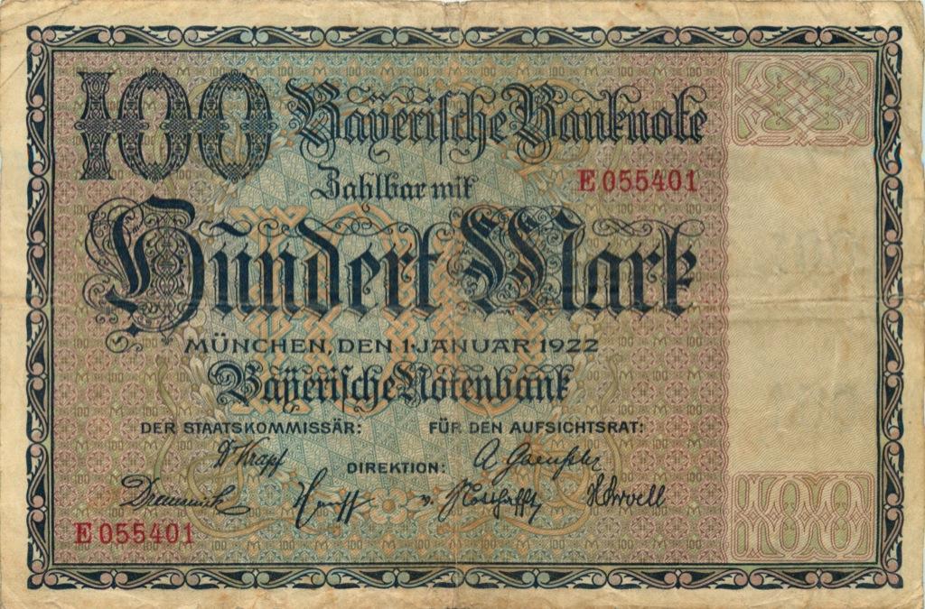 100 марок, Мюнхен 1922 года (Германия)