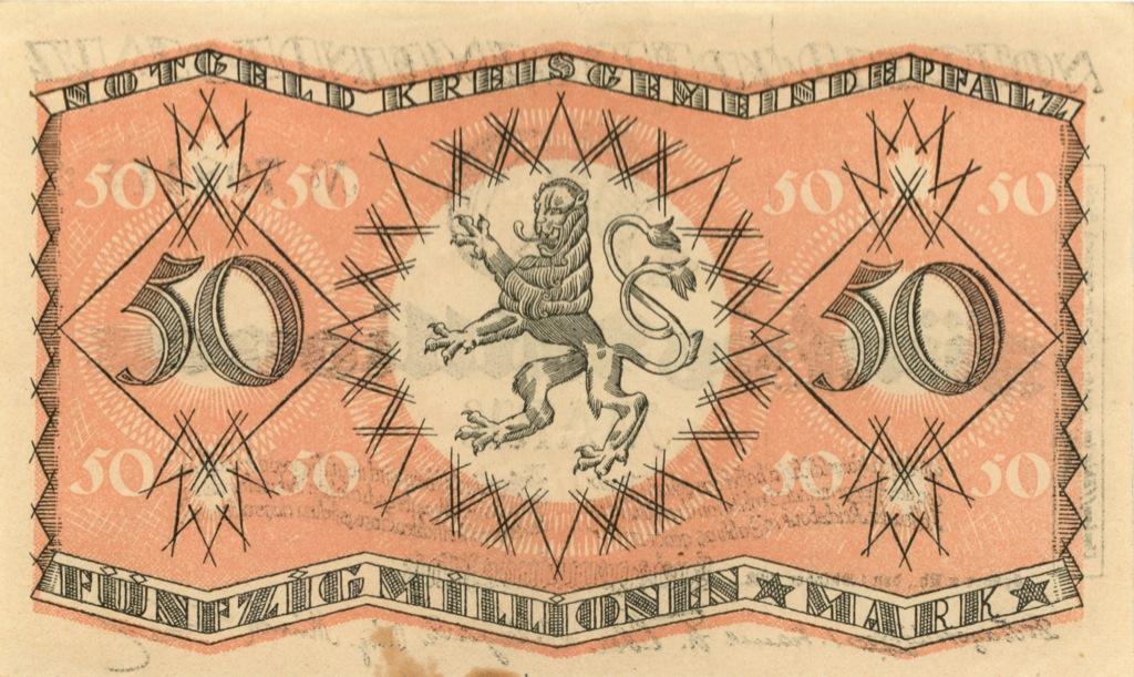 50 миллионов марок (Пфальц) 1928 года (Германия)