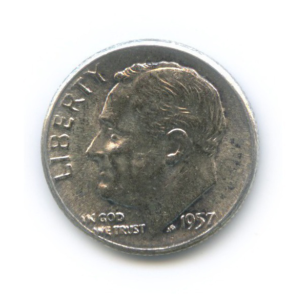 10 центов (дайм) 1957 года (США)