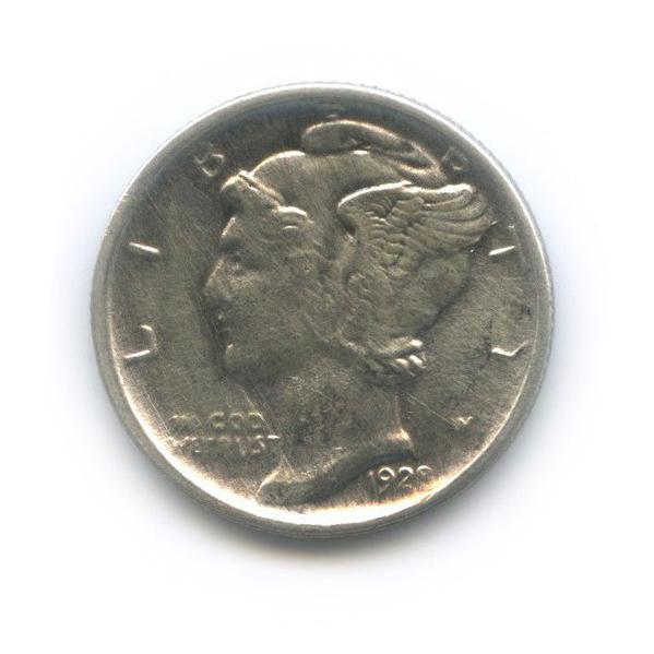 10 центов (дайм) 1928 года D (США)
