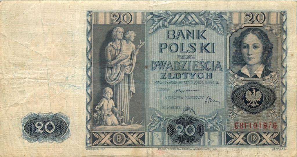 20 злотых 1936 года (Польша)