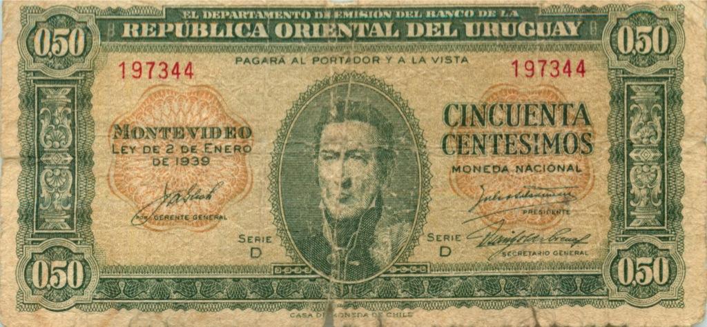 0.50 сентесимо 1939 года (Уругвай)