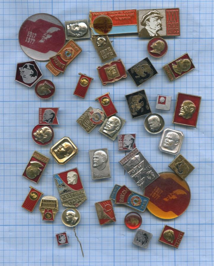 Набор значков «В.И. Ленин» (40 шт.) (СССР)