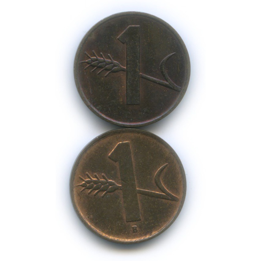 Набор монет 1 раппен 1948, 1970 (Швейцария)