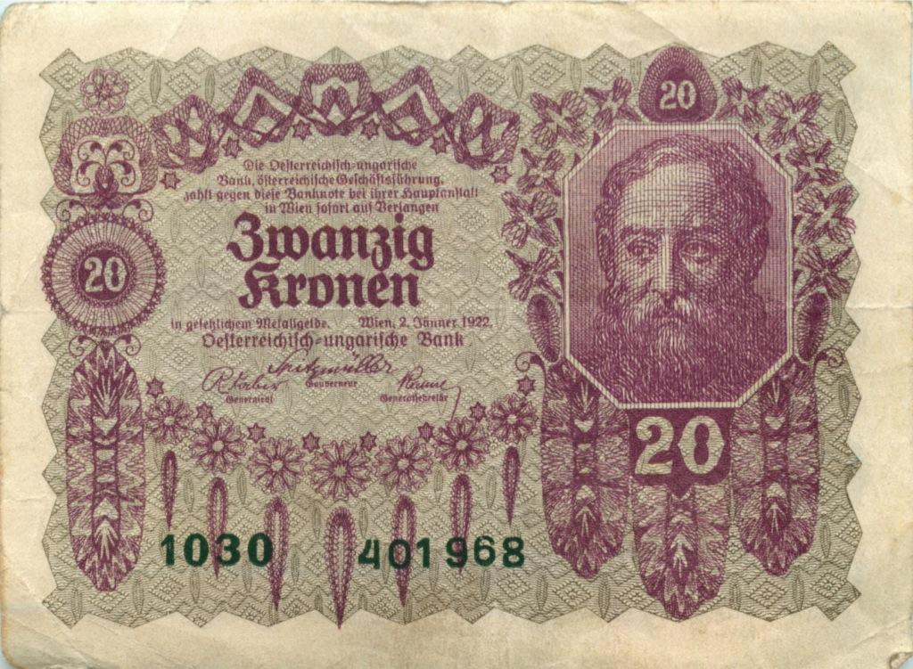 20 крон 1922 года (Австрия)