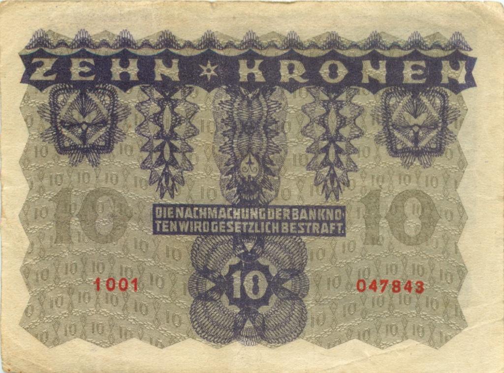 10 крон 1922 года (Австрия)