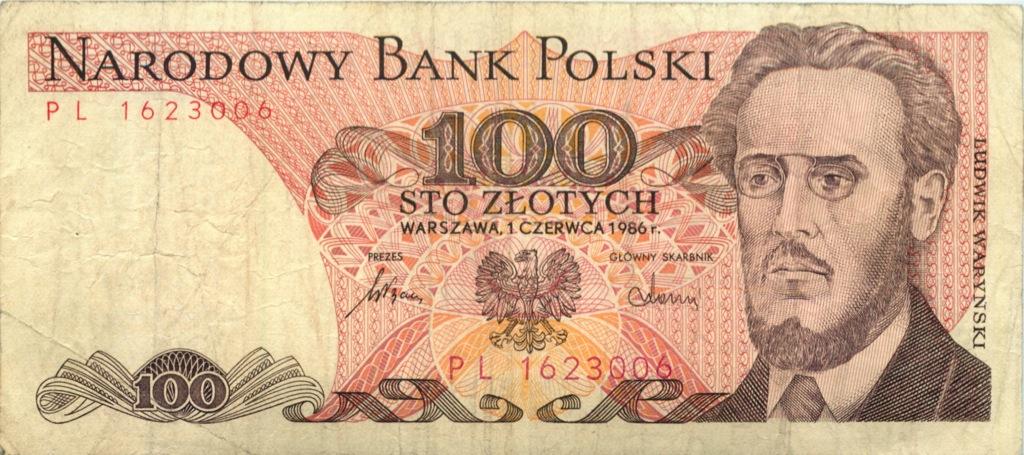 100 злотых 1986 года (Польша)