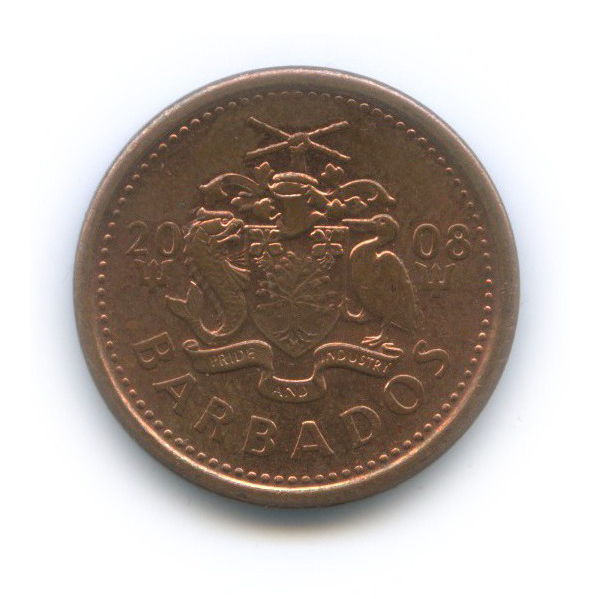 1 цент 2008 года (Барбадос)