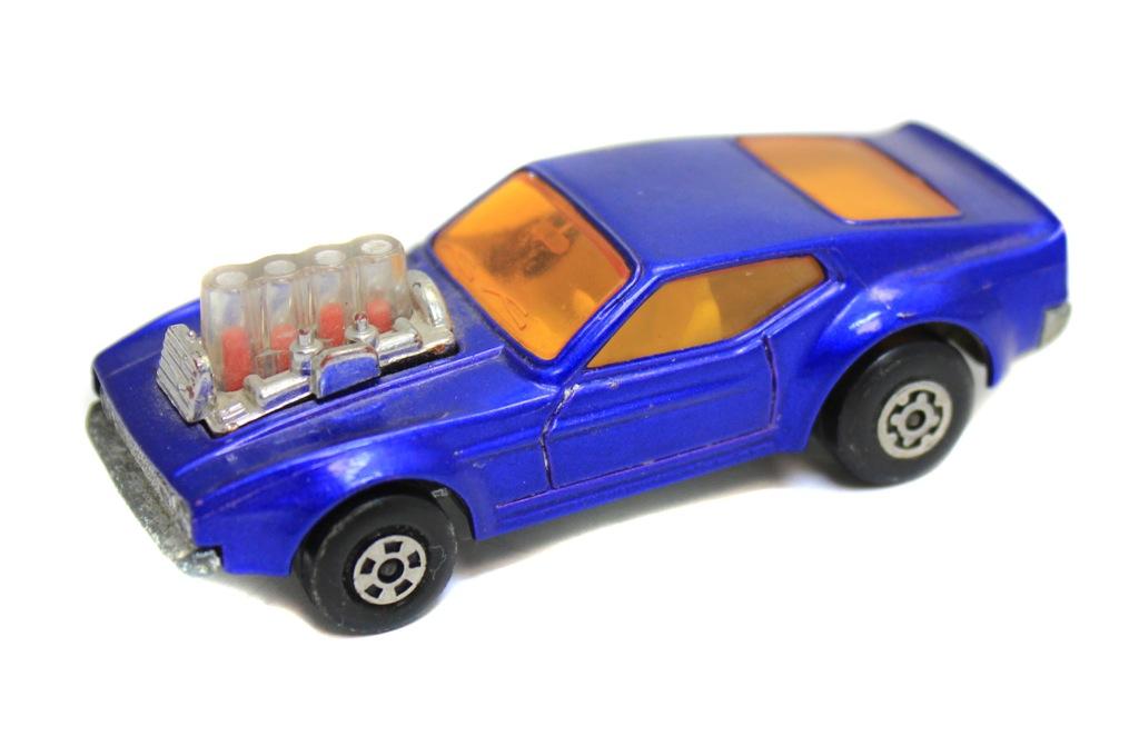 Модель машины «Matchbox - Rola-matics - Lesney - №10 Mustang Piston Popper» (7,5 см) 1973 года (Великобритания)