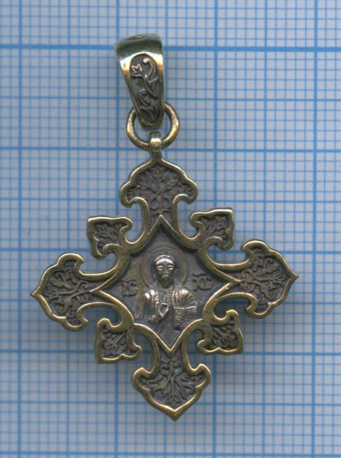 Крест-образок нательный (925 проба серебра)