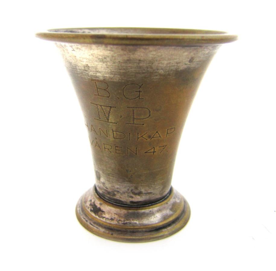 Стопка-кубок «B.G. IVPHANDIKAP VAREN 47», 5,5 см 1947 года