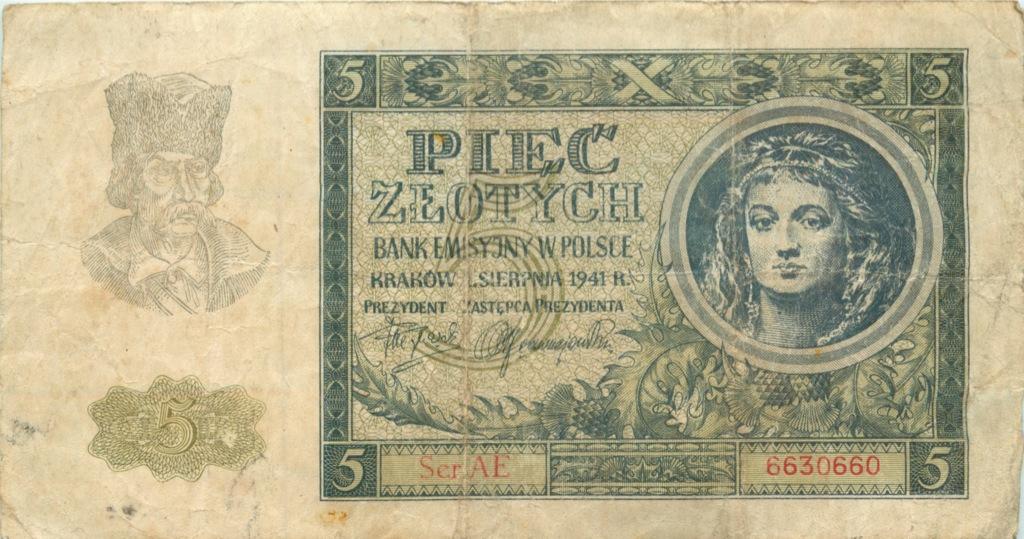 5 злотых 1941 года (Польша)