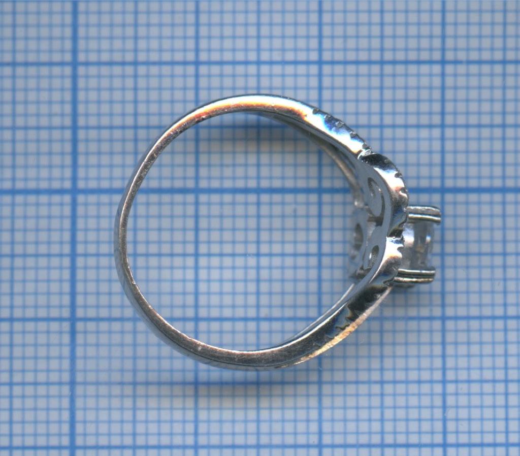 Кольцо (серебро 925 пробы, сфианитами)