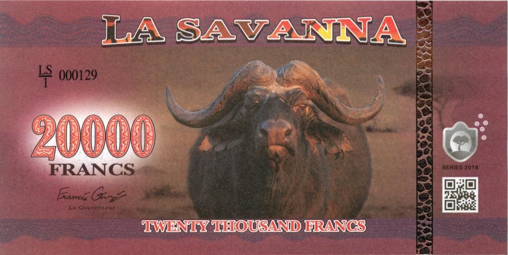 20000 франков (Саванна) 2016 года