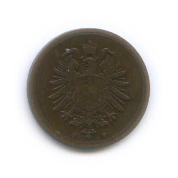 1 пфенниг 1876 года F (Германия)