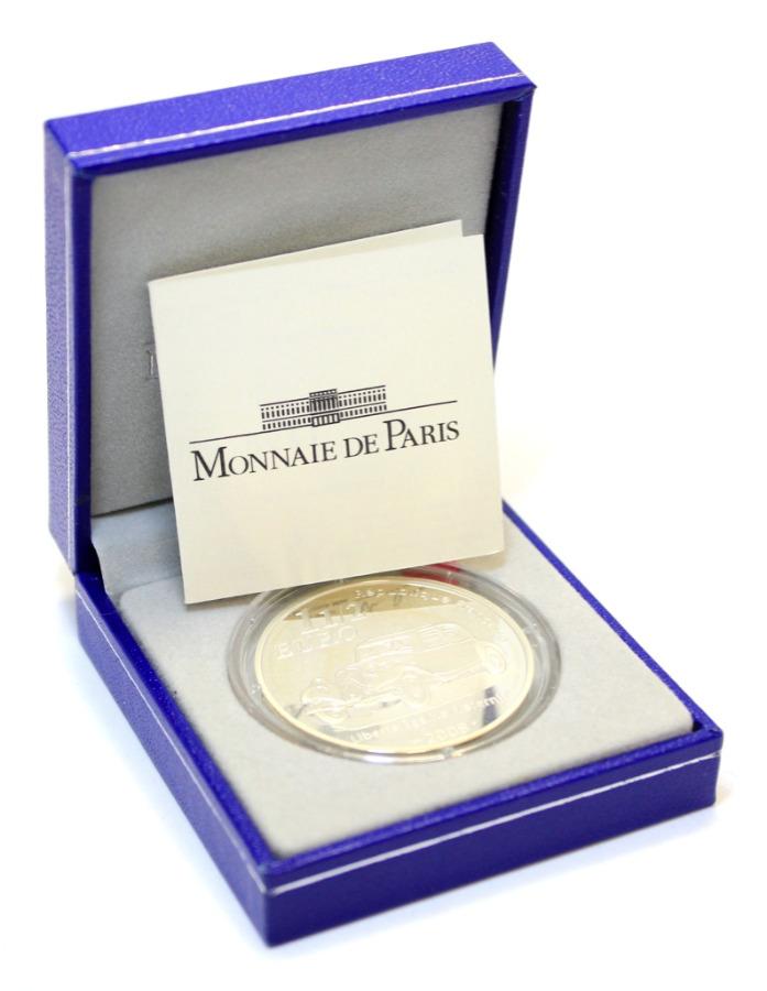 1 1/2 евро - 130 лет содня рождения Андре Ситроена (ссертификатом, воригинальной коробке) 2008 года (Франция)