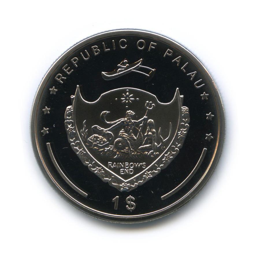 1 доллар - Под угрозой исчезновения, Палау (серебрение, цветная эмаль) 2009 года
