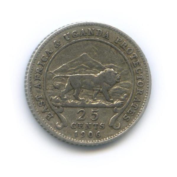 25 центов, Восточная Африка иУганда 1906 года