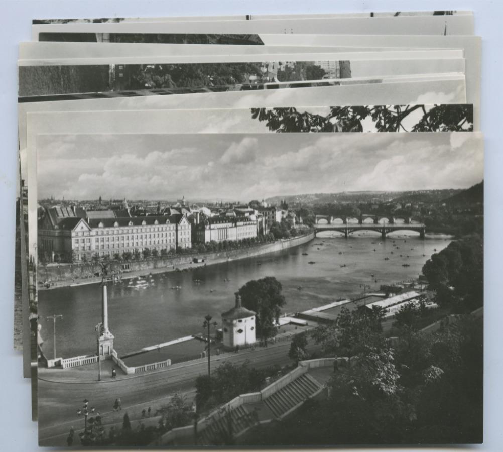 Набор открыток «Прага» (11 шт.) 1961 года (СССР)