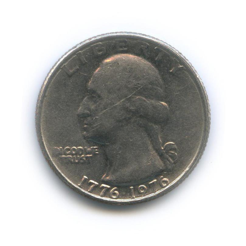 25 центов (квотер) — 200 лет независимости США 1976 года (США)