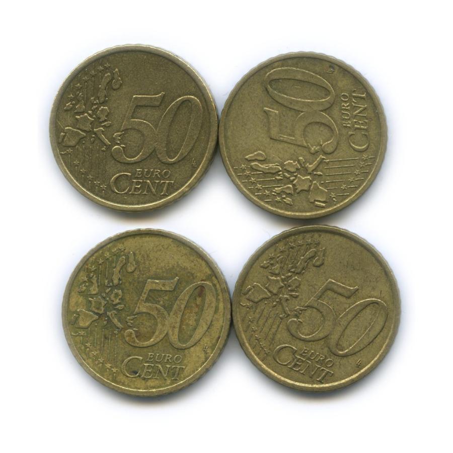 Набор монет 50 центов (разные страны) 2000, 2002
