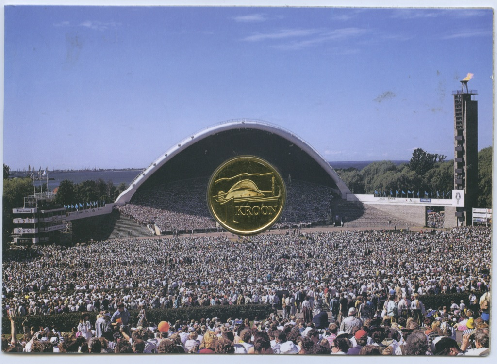 1 крона — Песенный фестиваль (в блистере) 1999 года (Эстония)