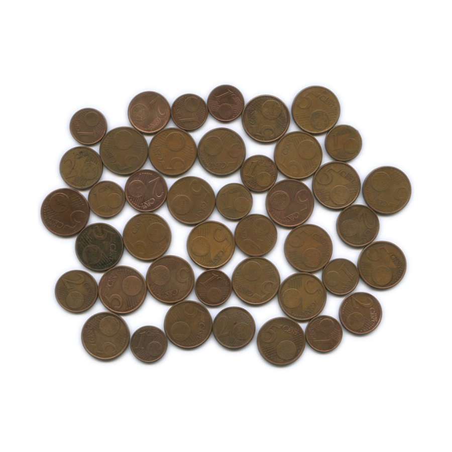 Набор монет (разные страны), 42 шт