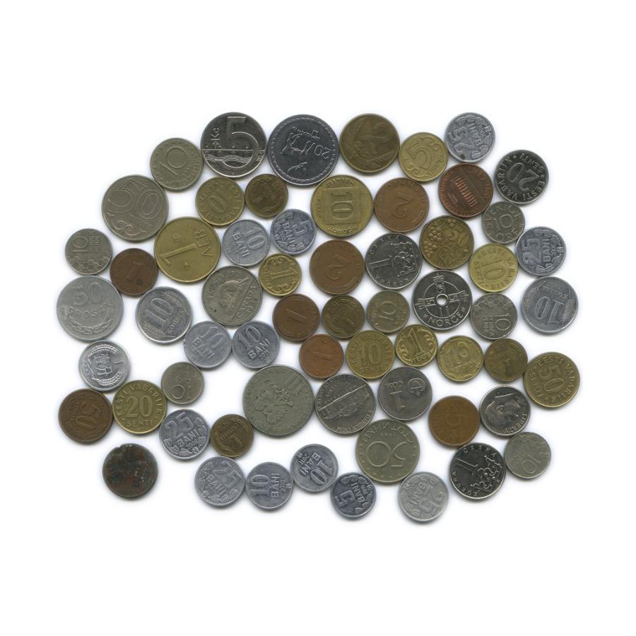 Набор монет (разные страны), 62 шт