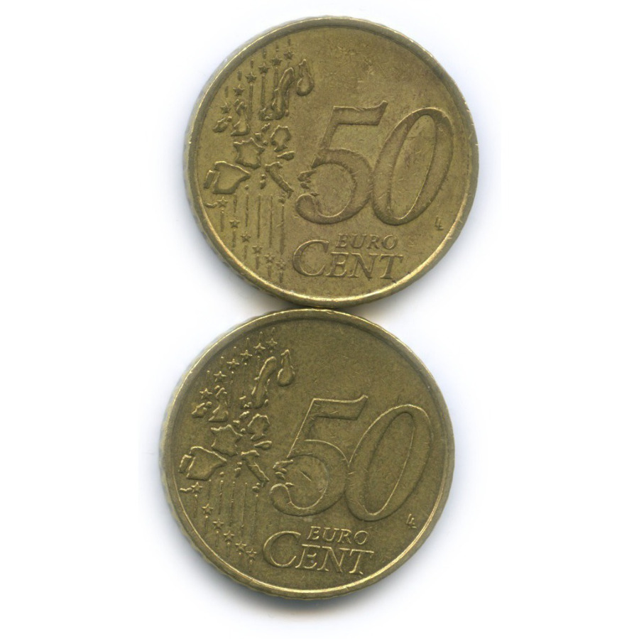 Набор монет 50 центов 2003, 2004 (Германия)