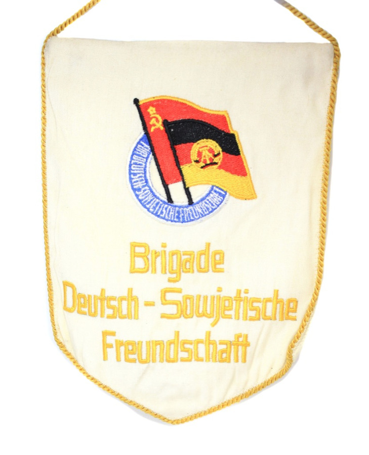 Вымпел «Brigade Deutsch-Sowejetische Freundschaft» (25 см) (СССР)