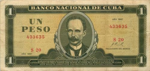 1 песо 1967 года (Куба)